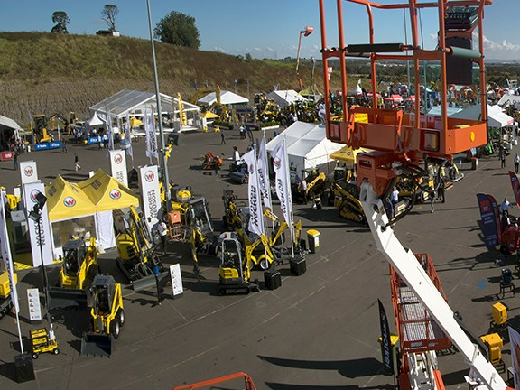 An aerial view of Civenex 2014. The show attracted nearly 300 companies.
