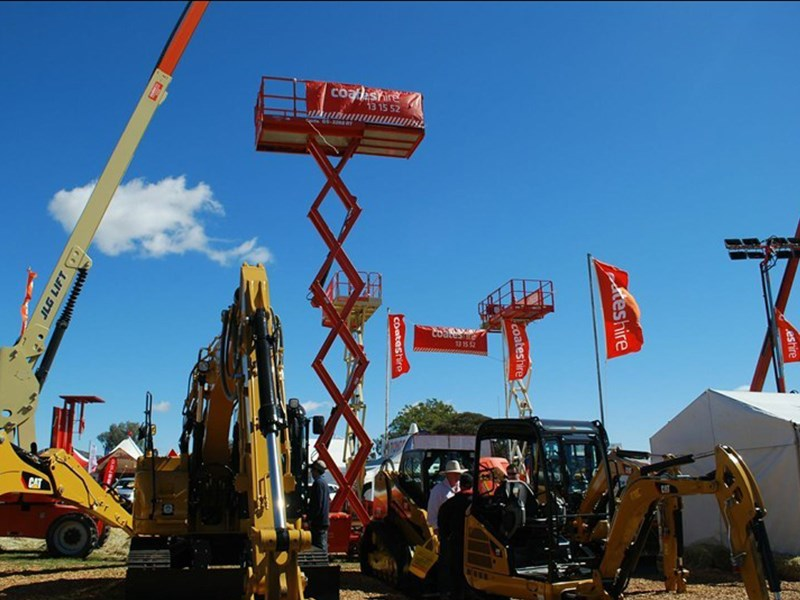 A scene from AgQuip 2013.