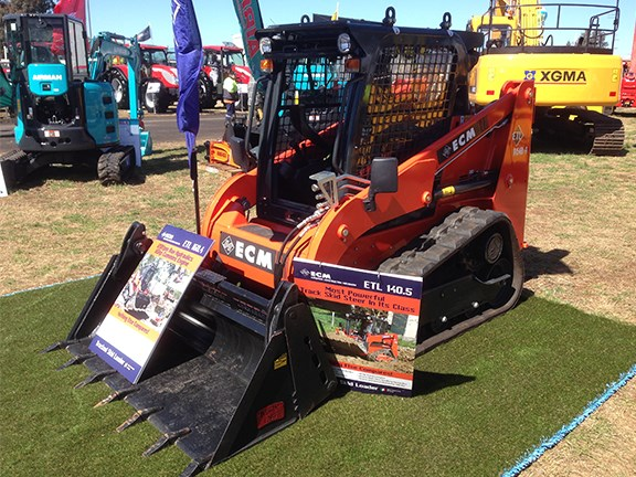 The very popular, Italian-made ECM ETL140.5 tracked skid loader on the Mini Excavator Sales stand.