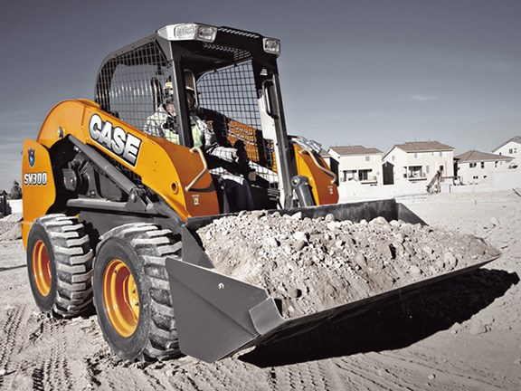 The Case SV300, one of the company's most powerful skid steer loaders.