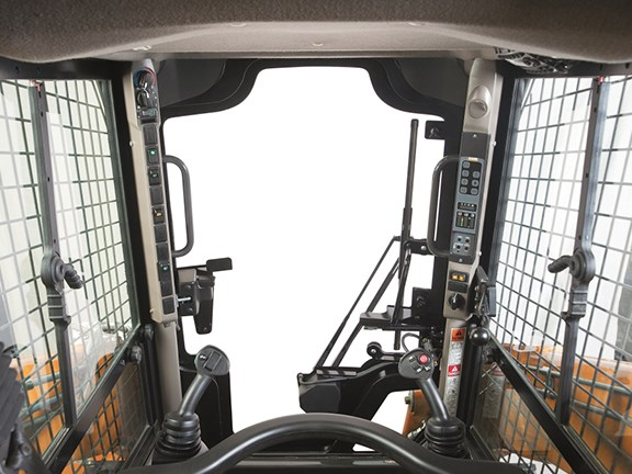 The cab on all the new Case models is 25 percent wider than on previous generation machines.