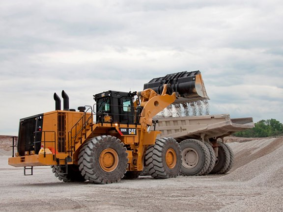 The Cat 990K wheel loader.