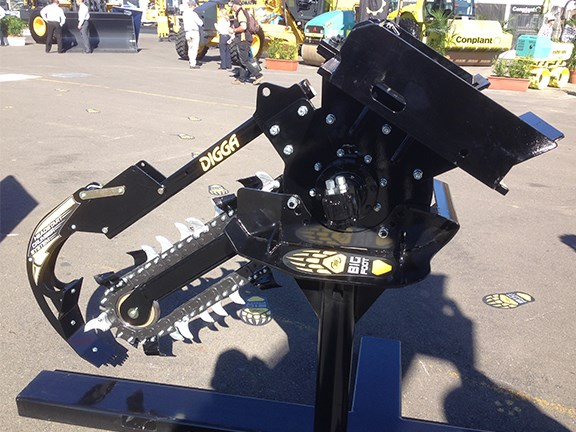 Digga showed off a new, improved Australian-made Bigfoot Trencher at the expo.
