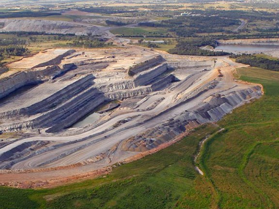 Coal mining in the Hunter Valley, NSW.