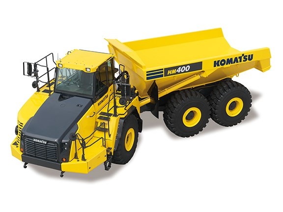 The Komatsu HM400-3M0 articulated dump truck is packed with new features.