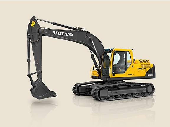 Two 20-tonne EC210B hydraulic excavators were part of the extensive Volvo CE fleet used in building India's Shillong bypass road.