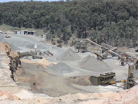 Matthews Quarries in Gippsland, Victoria.