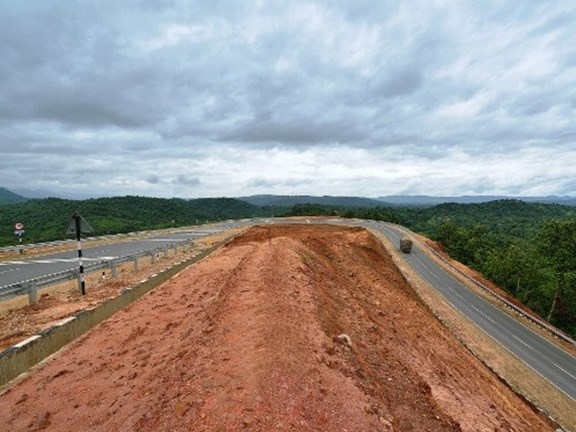 The high-altitude Shillong bypass road stretches for 500km.