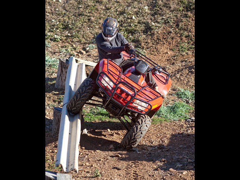 3 Arctic Cat Stockman 500 ATV obstacle course