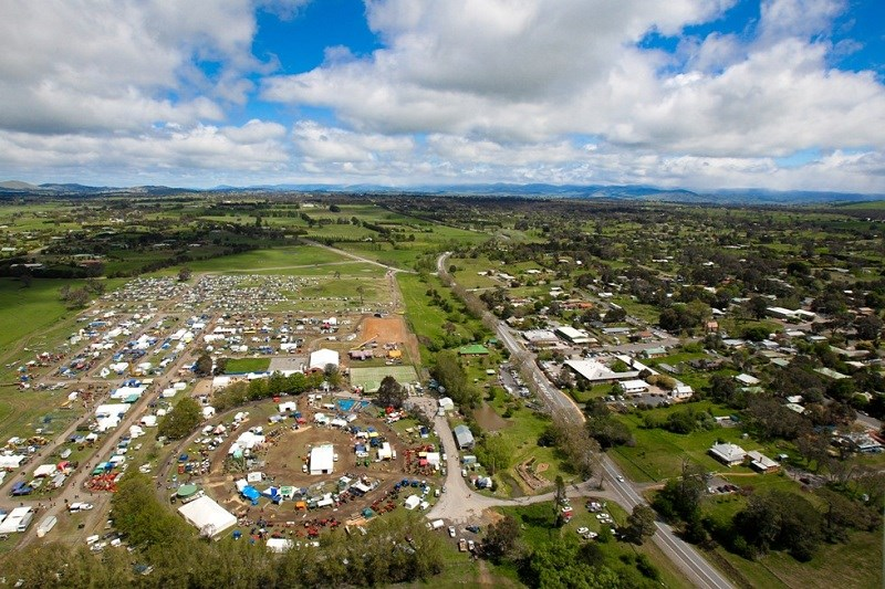Murrumbateman field days aerial view