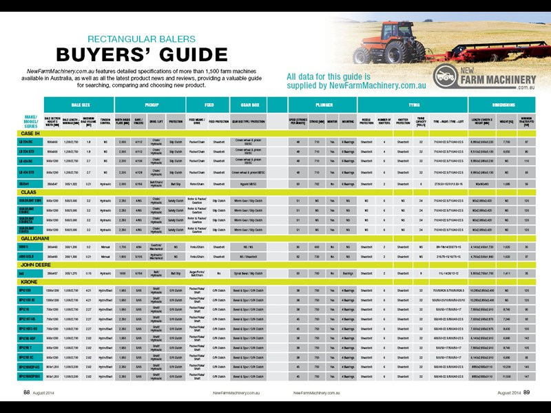 NFM issue 12 Baler and wrappers buyers guide