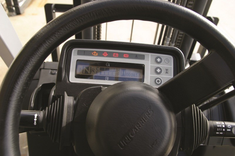 TCM forklifts F1 series dashboard