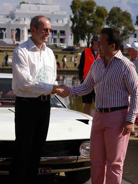 Auto Italia: Award winner Phil Nash (on left)