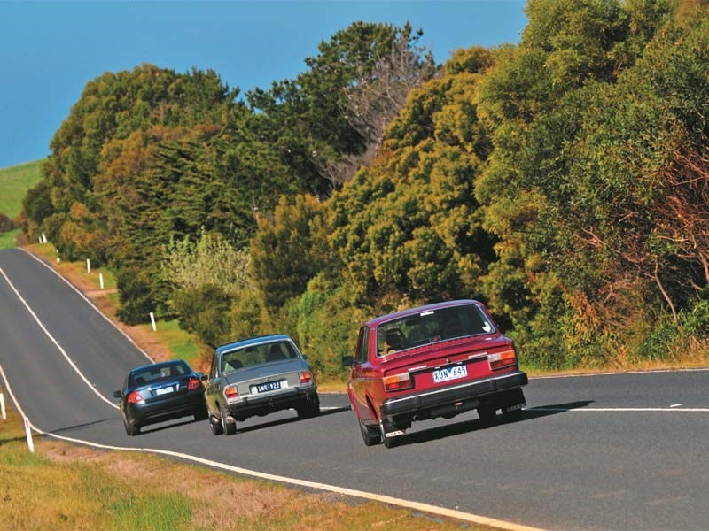 2012 Fg Falcon Vs 1976 Peugeot 504 Vs 1974 Volvo 144 Comparison Review