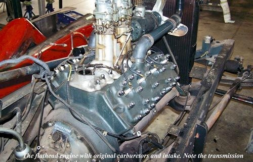Ford Speedster: stock Ford flathead V8