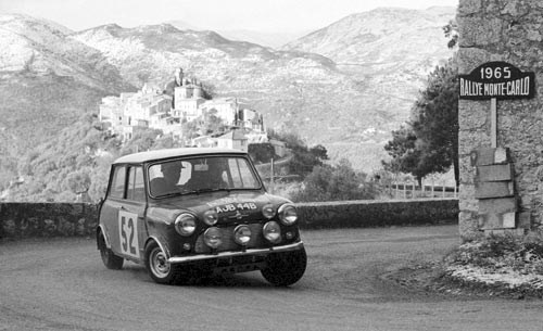 Mini Cooper at the 1965 Monte Carlo Rally