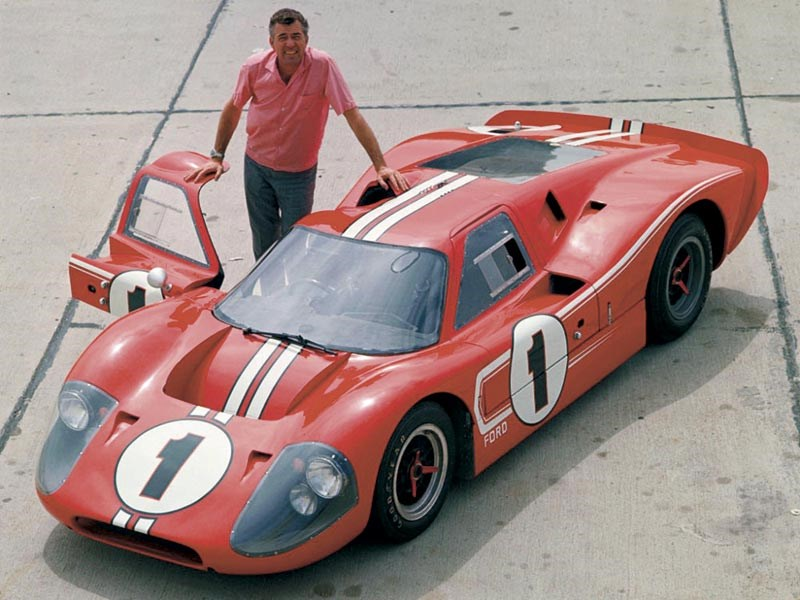 Carroll Shelby with a MkIV