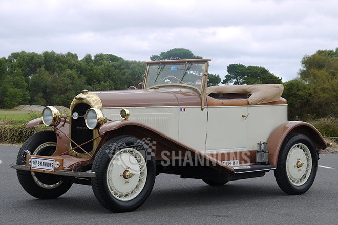 Shannons auctions: 1926 Chenard Senechal Boat Tail roadster