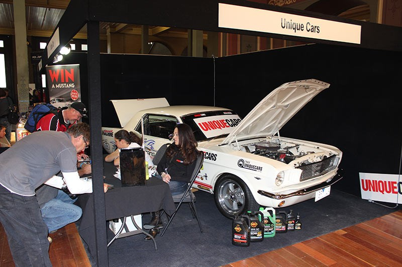 Unique Cars stand at Gasolene Muscle Car Expo
