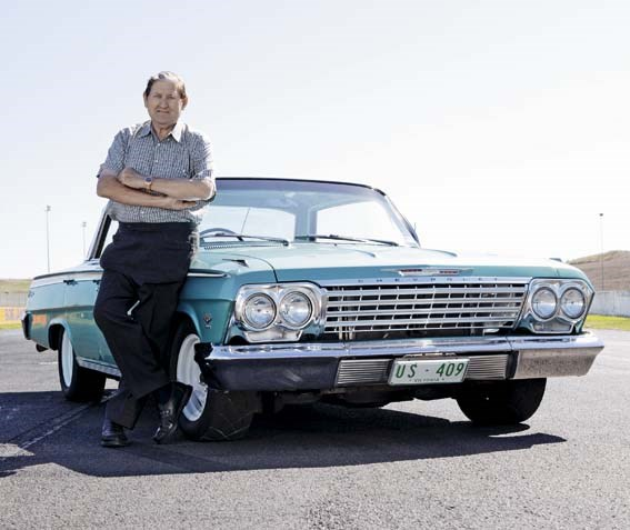 Norm Beechey with the Chevrolet Impala