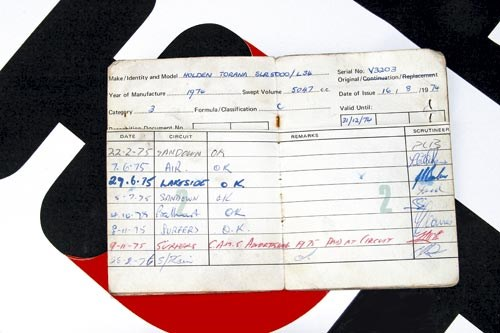 Peter Brock's Bathurst Holden SL/R 5000 L34 logbook