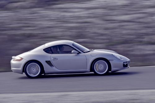 Porsche Cayman S side view