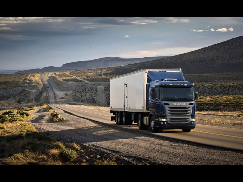 Scania Truck, using Eco-Roll technology