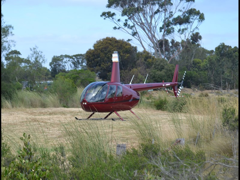 Helicopter ride at Tooradin Truck Show