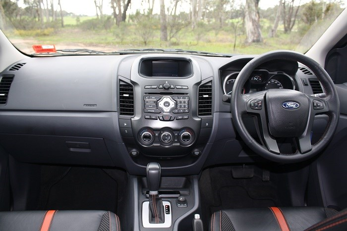 Ford Ranger Wildtrak 4x4 dashboard