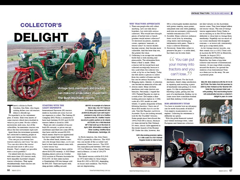 Graeme Quick vintage tractor feature