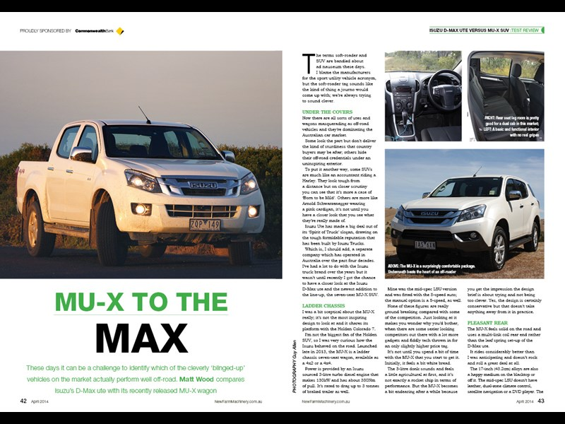 Isuzu DMAX vs MUX review