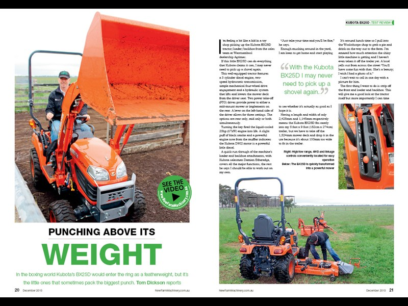 Kubota BX25D tractor review NFM