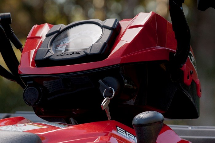 Polaris Sportsman X2 550 ATV instrument panel