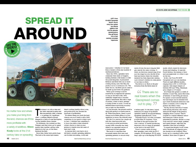 Vicon GEOSpread spreader test