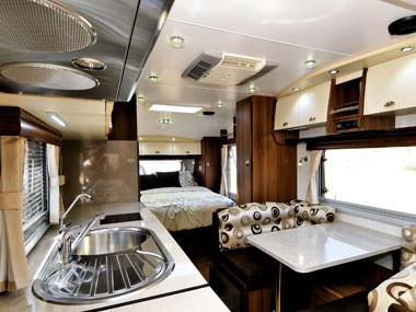interior spacious view of the nova caravans pride 2011