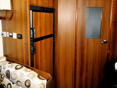 panel interior of the nova caravans pride 2011