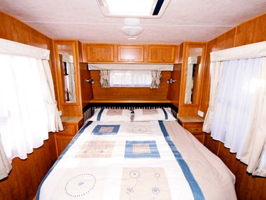 bed in Retreat Caravans Hayman