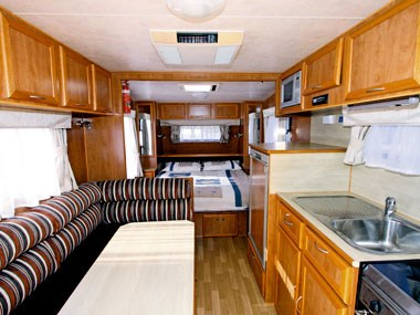 Retreat Caravans Hayman lounge and dinette