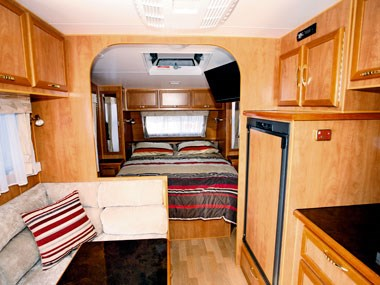 Billabong Caravans Eagle Bay caravan interior lounge