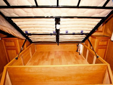 Billabong Caravans Eagle Bay caravan under bed storage