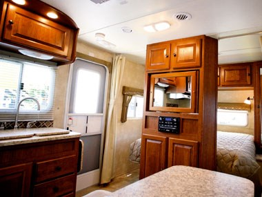 another view of the lounge on the CruiserRV Fun Finder X caravan