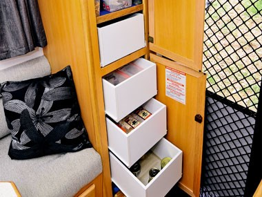 Trakmaster Nullarbor caravan drawers storage