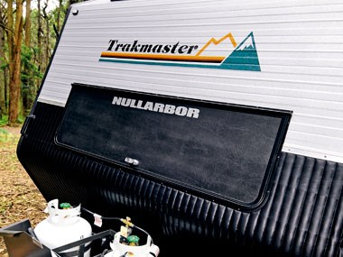 Another rear view of the Trakmaster Nullarbor caravan