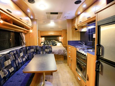 view of the spacious interior of the Coromal Caravans Princeton P635XC