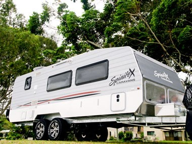 spinifex caravans off roader exterior