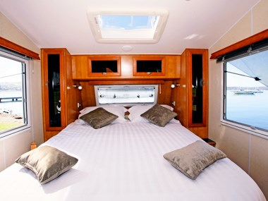 Millard Pinnacle caravan spacious interior bed