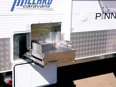 Millard Pinnacle caravan exterior storage