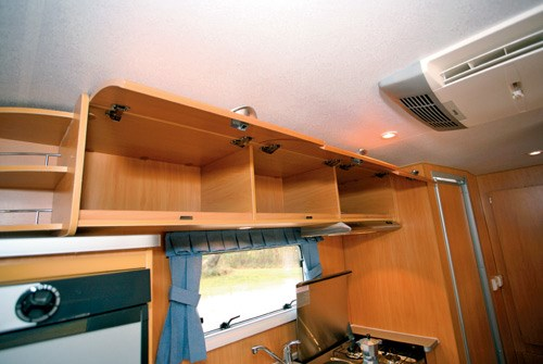 A'van Jenna HT 624 caravan kitchen storage