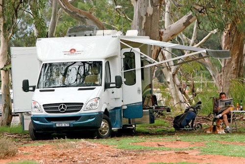 Wirraway Motor Homes 260SL opened on campsite