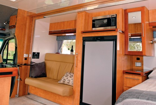Wirraway Motor Homes 260SL interior lounge